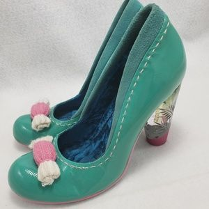 Shoes - Kawaii Candy Pumps Clear Plastic Heel Teal Lolita